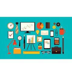 flat business items vector image