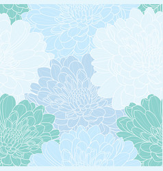 floral seamless hand drawn background vector image