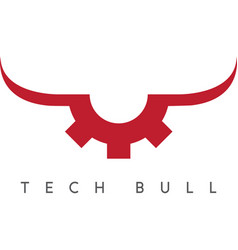 Gear with bull horns technology concept vector