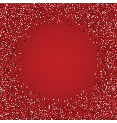Glitter red round frame vector image