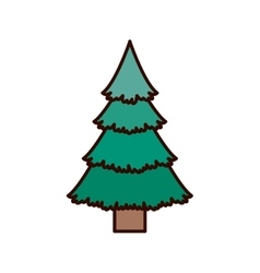green christmas tree with trunk vector image vector image