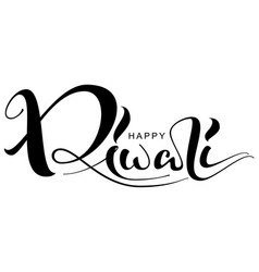 Happy diwali ornate text for greeting card vector