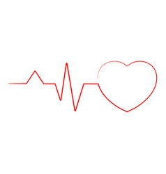 heartbeat line heart cardio ekg isolated on a vector image
