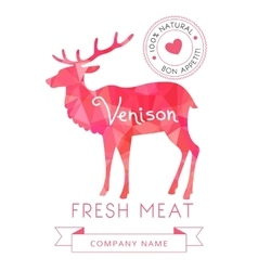 Image meat symbol venison silhouettes of animal vector