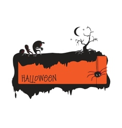 invitation to halloween vector image
