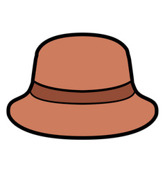 Isolated summer hat vector
