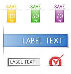 Labels and stickers vector