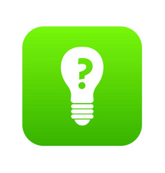 light bulb with question mark inside icon digital vector image