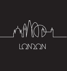 linear of london city vector image