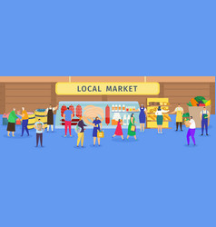 Local farm food market vector