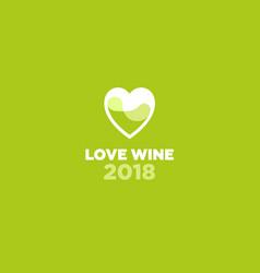 love wine logo festival vector image