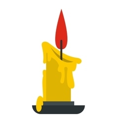 Melting candle icon flat style vector