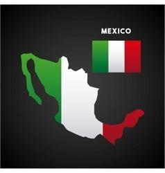 Mexico country map vector