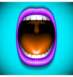 Mouth color open vector image