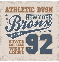 New York Bronks t-shirt graphics vector image