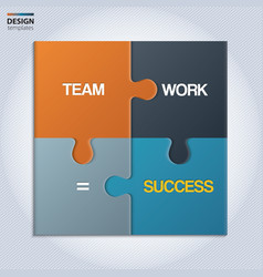 piece jigsaw puzzle showing business equation vector image