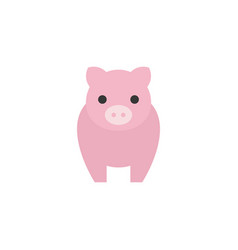 pig icon front side flat design vector image