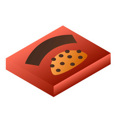 red chocolate box icon isometric style vector image