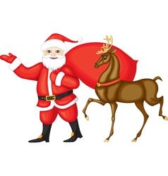 Santa claus and rudolph vector