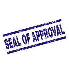 Scratched textured seal of approval stamp seal vector