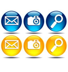 Search Picture Email icons vector image