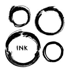 set hand drawn circles design elements vector image