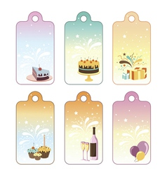 Set of celebration labels vector image