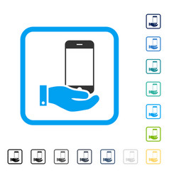 smartphone offer hand framed icon vector image