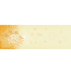 snowy banner vector image