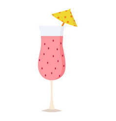 summer cocktail icon on white background for vector image