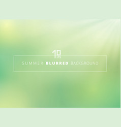 summer time green nature blurred background with vector image