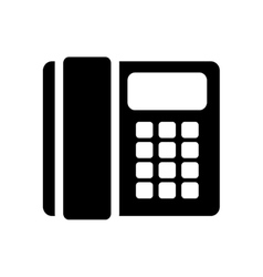 Telephone handset call vector
