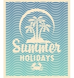 Tourism banner on a summer vector image