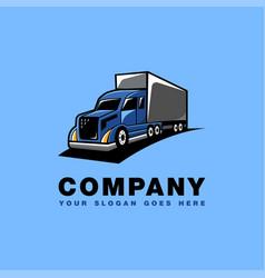 truck delivery cartoon mascot logo icon vector image
