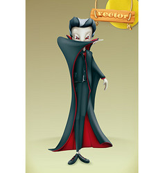 Vampire Halloween 3d icon vector image