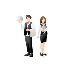 waiter character design vector image