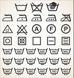 washing sign simple modern collection black color vector image
