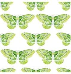 Watercolor butterflies pattern vector image