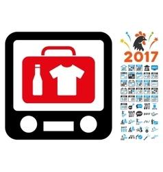 Xray screening icon with 2017 year bonus symbols vector
