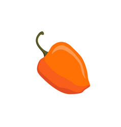 Yellow cartoon pepper isolated on white backgroud vector