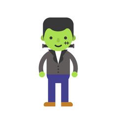 Zombie children in halloween costume flat design vector