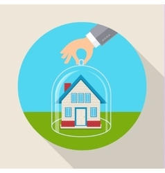 Concept for saving property vector image