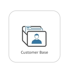 Customer Base Icon Business Concept Flat Design vector image vector image