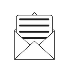 envelope paper letter email outline vector image