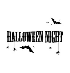 halloween text for poster collection vector image