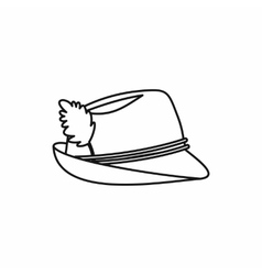 Oktoberfest tirol hat icon outline style vector image vector image
