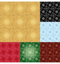 set - seamless geometrical patterns vector image vector image