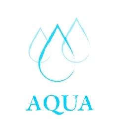 art water drop sign vector image