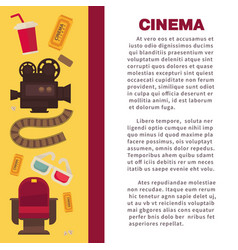 cinema advertisement banner with symbolic vector image vector image