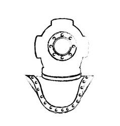 deep sea diver vector image